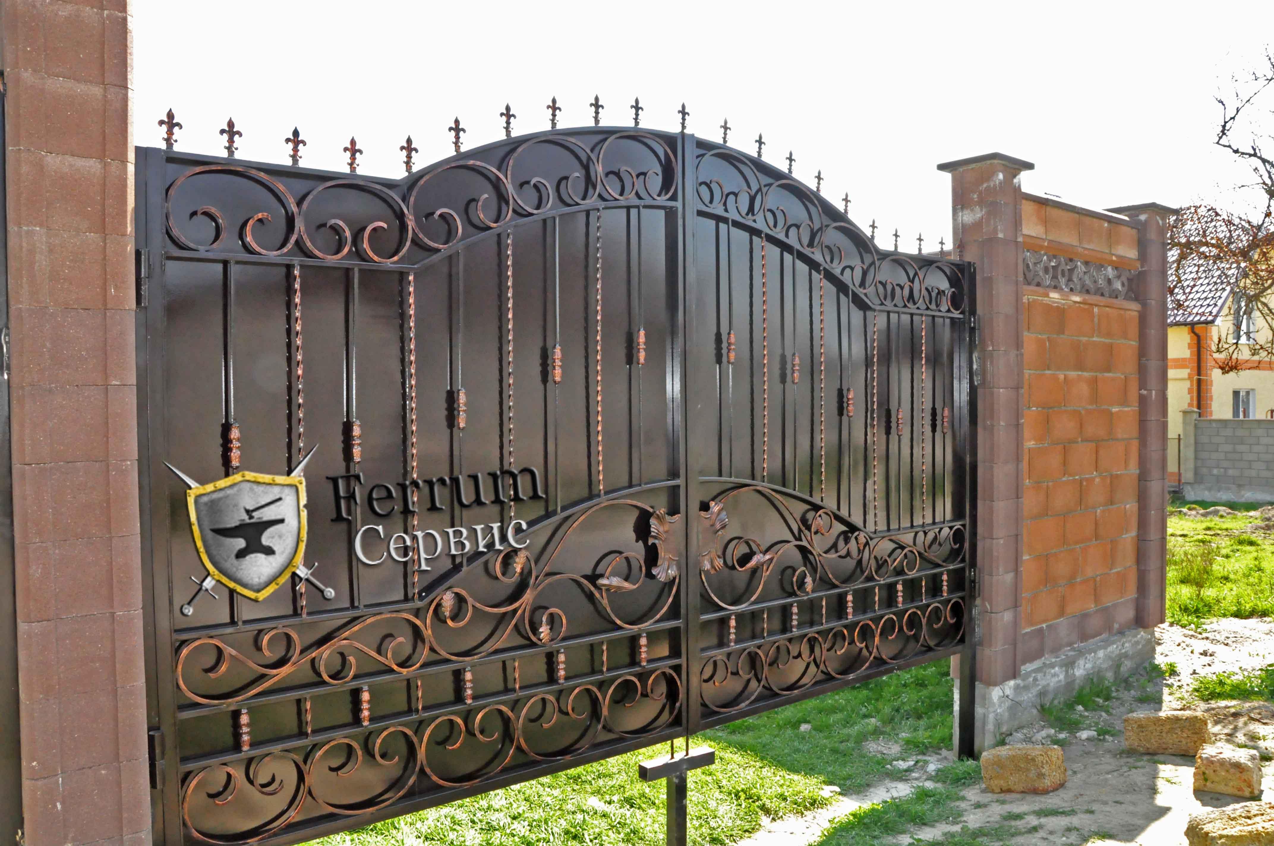 ворота кованые1