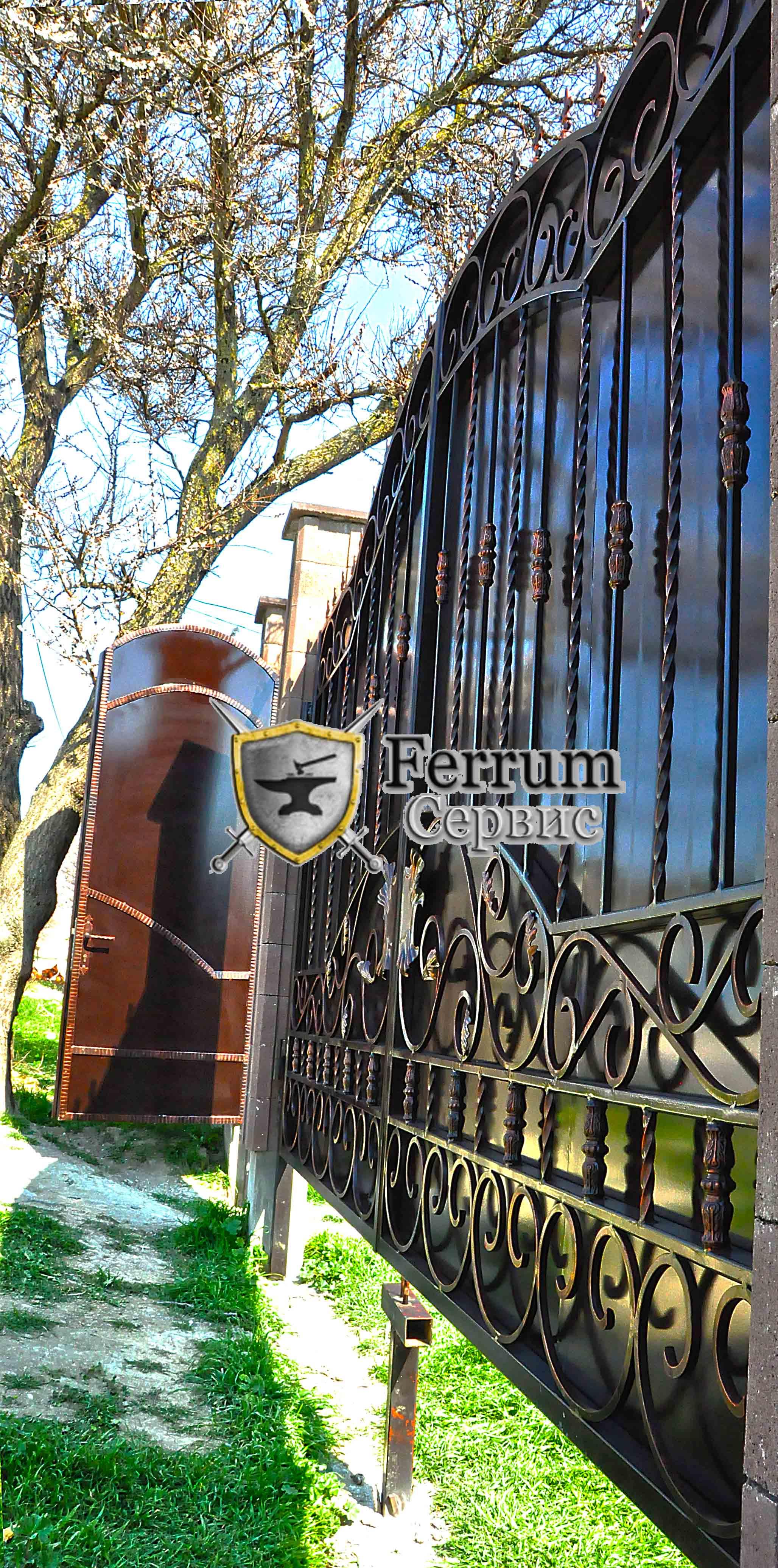 ворота кованые2