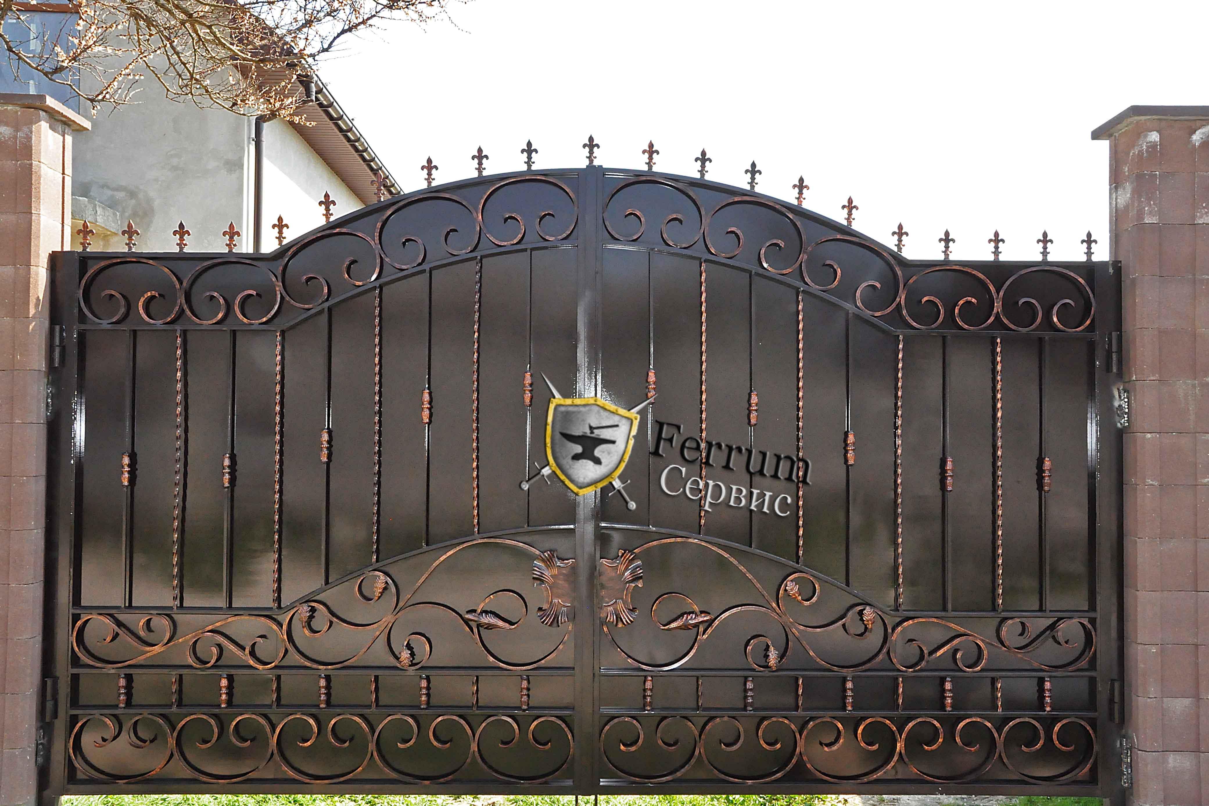 ворота кованые3