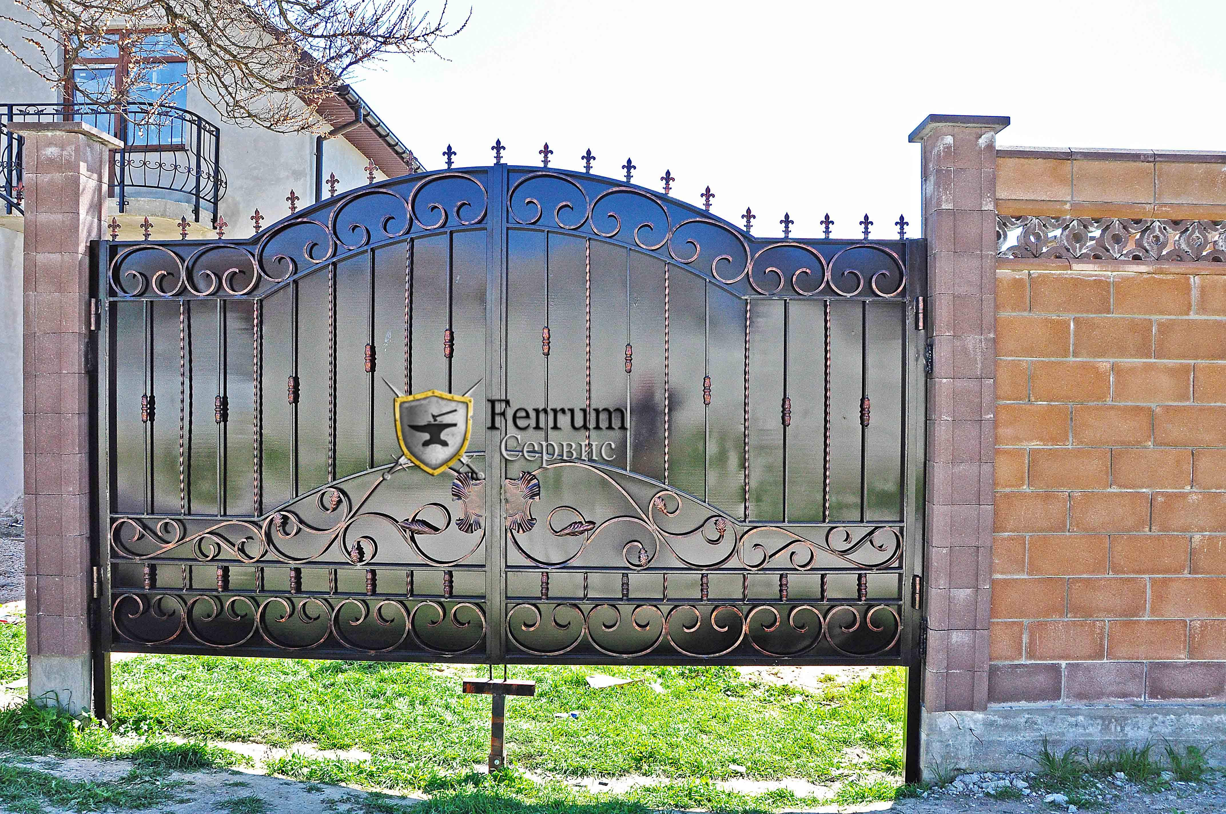 ворота кованые5
