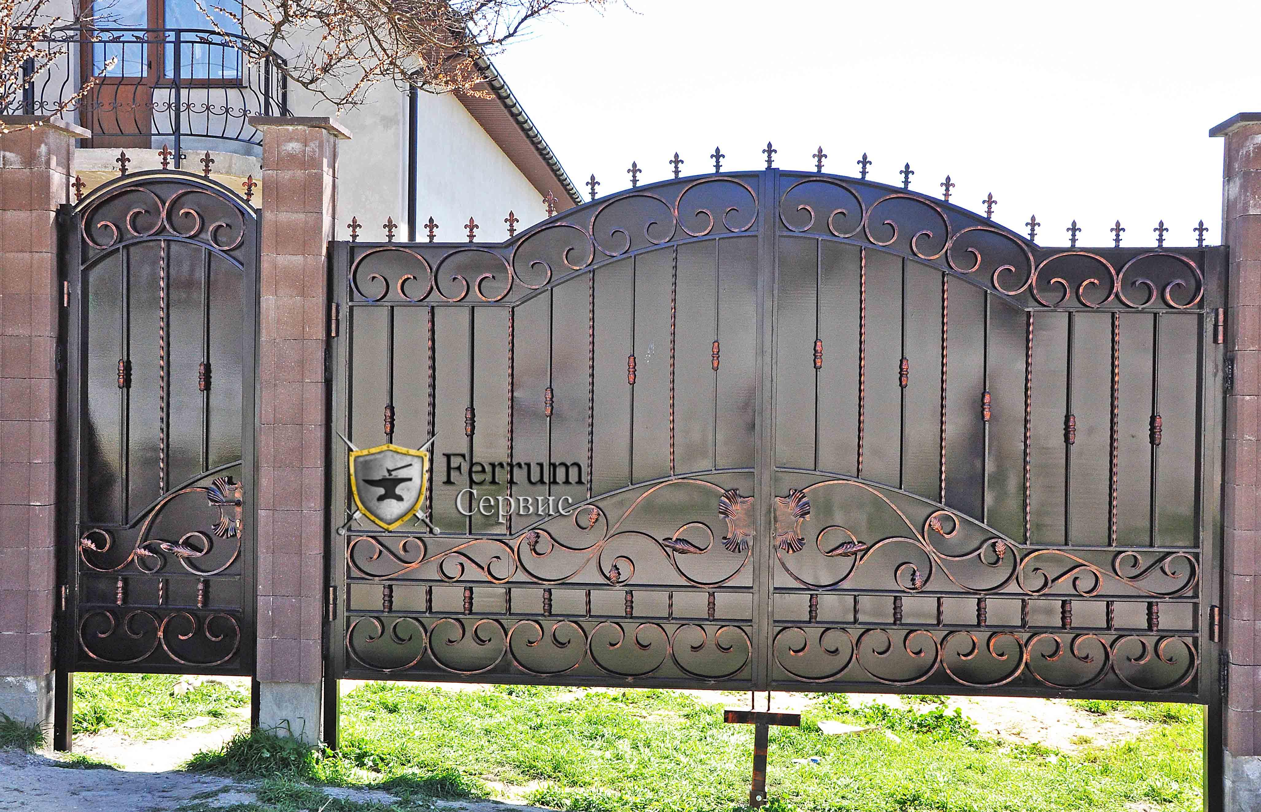 ворота кованые6