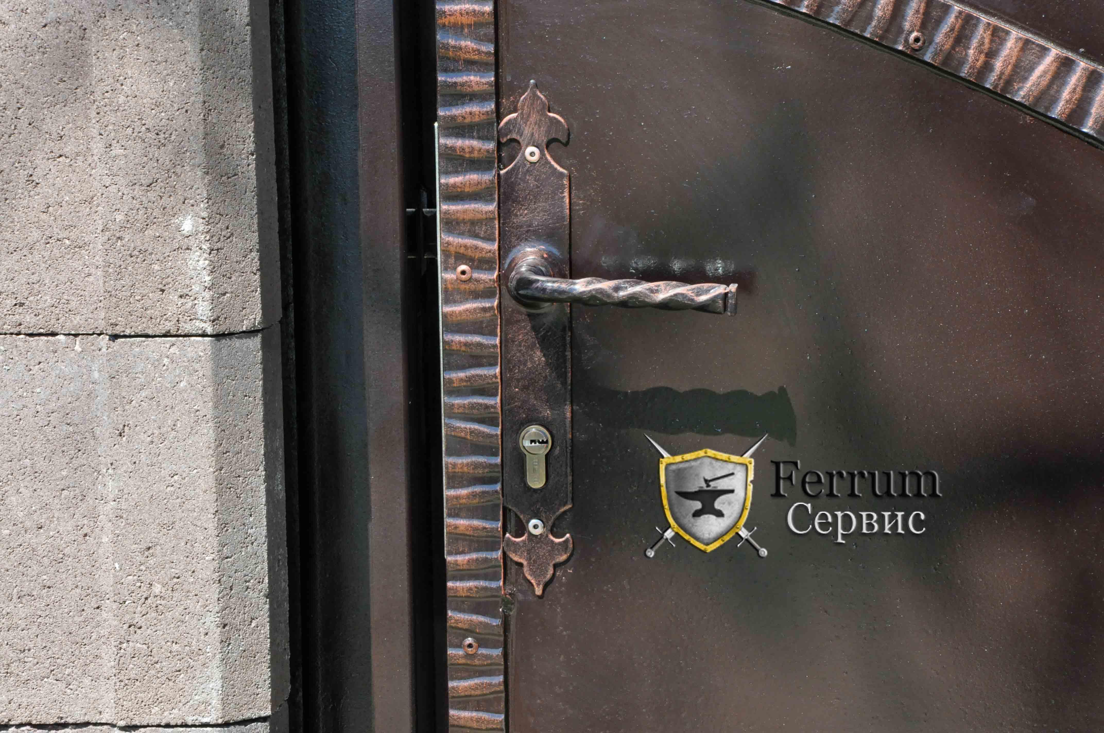 ворота кованые9