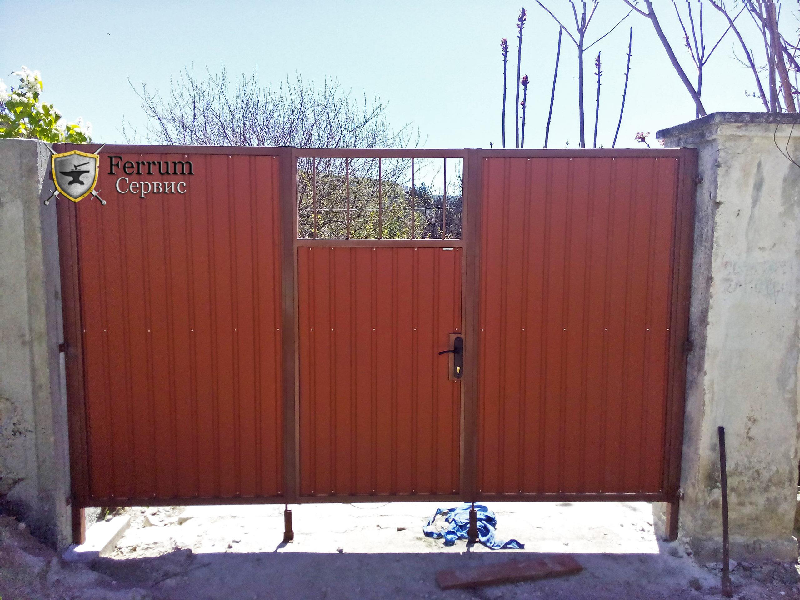 ворота складные3