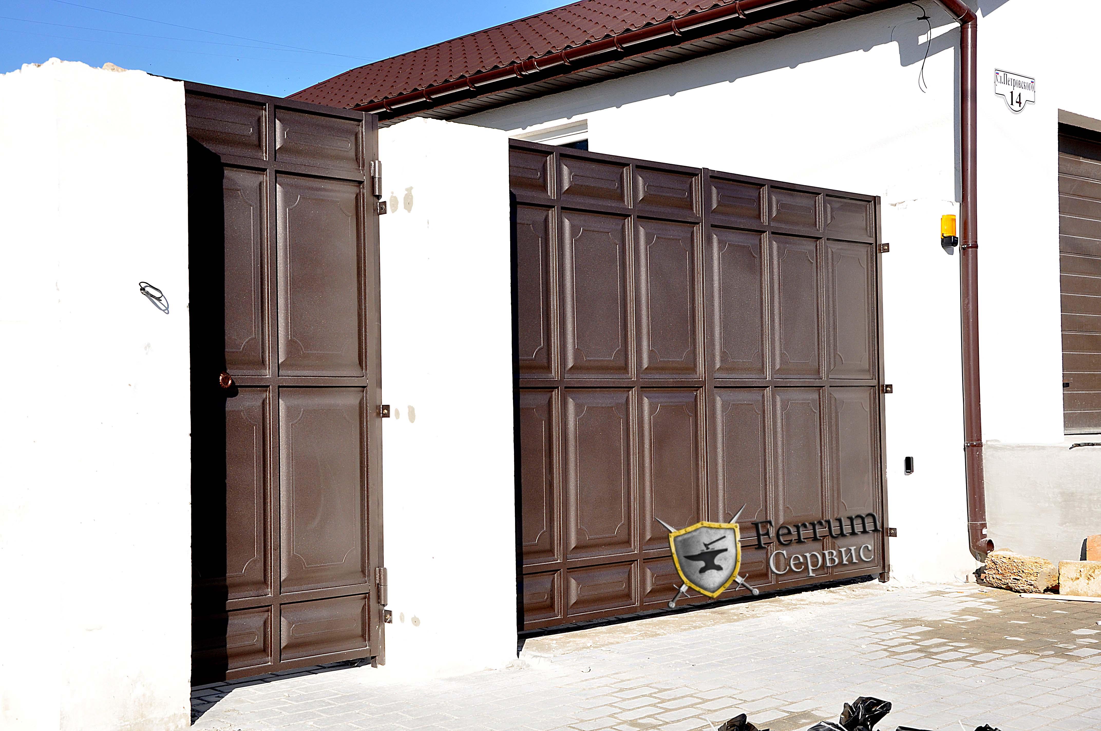 ворота с филёнки6