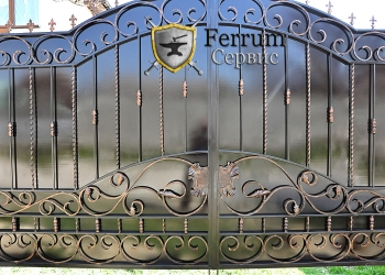 ворота кованые4