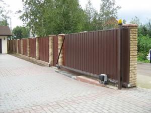 въездные ворота, откатные ворота, качественные ворота, консольные ворота, автоматические ворота, ворота из профнастила